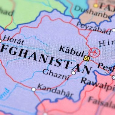 Afghanistan on the map